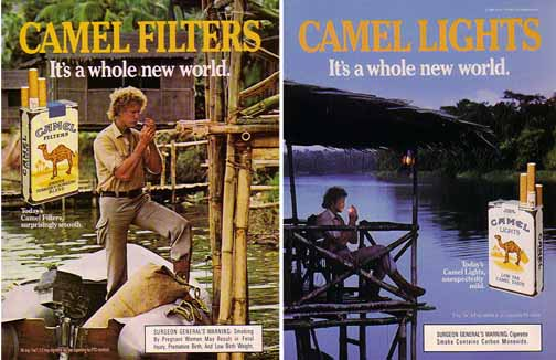 Camel Cigarettes 1985 Ads Set Of 2 River Adventure Ads Bamboo Trading