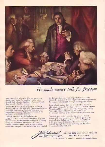 John Hancock Mutual Life Insurance 1948 Ad Robert Morris ...