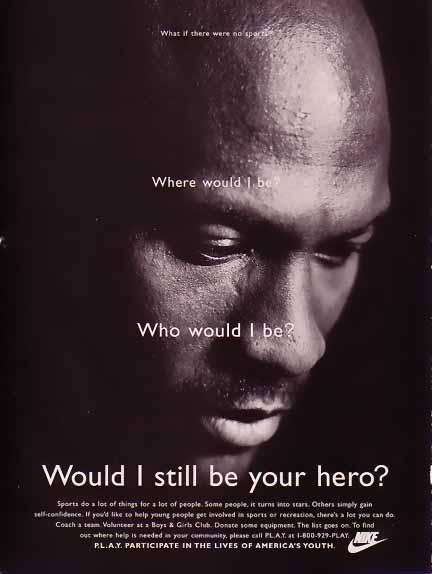 Michael Jordan 1995 Nike Ad Your Hero Bamboo Trading